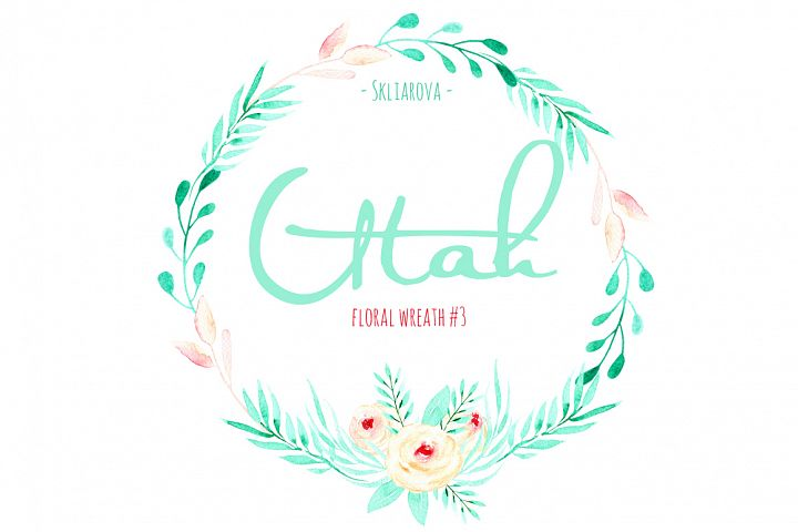 Utah. Floral mint wreath # 3