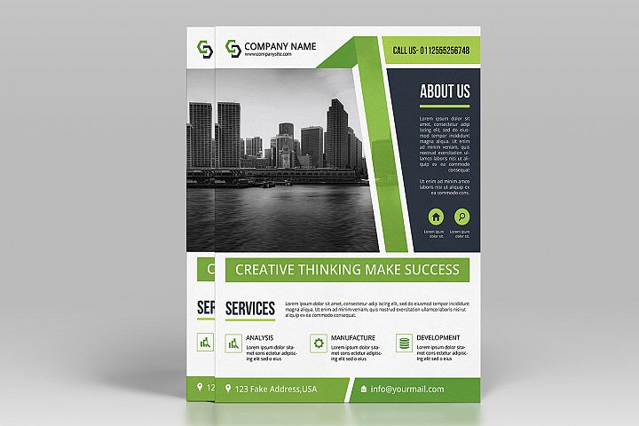 Business Flyer Template, Ms Word & Photoshop Template