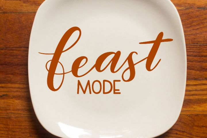 Thanksgiving SVG - Feast mode SVG, handlettered example 4