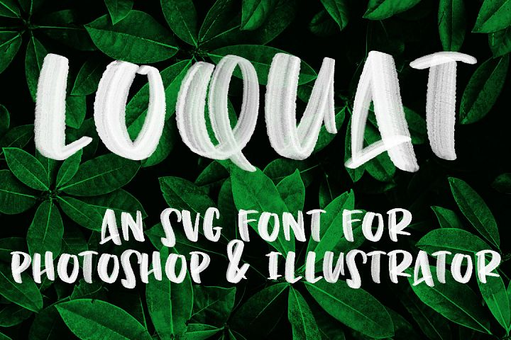 Loquat - handwritten OpenType SVG font with transparency!