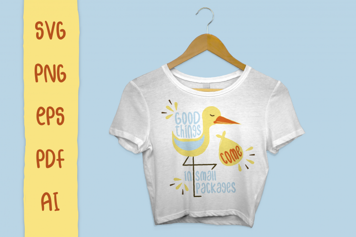 Pregnancy Stork Package - SVG Files for Crafters