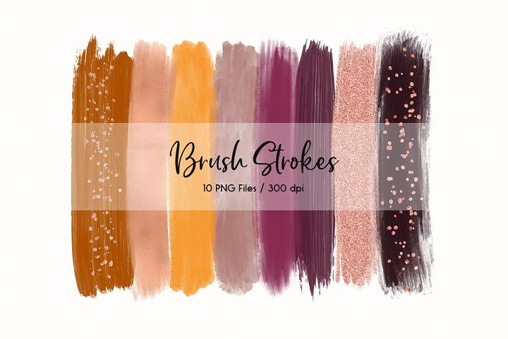 Brush Strokes Clip Art (Burgundy)