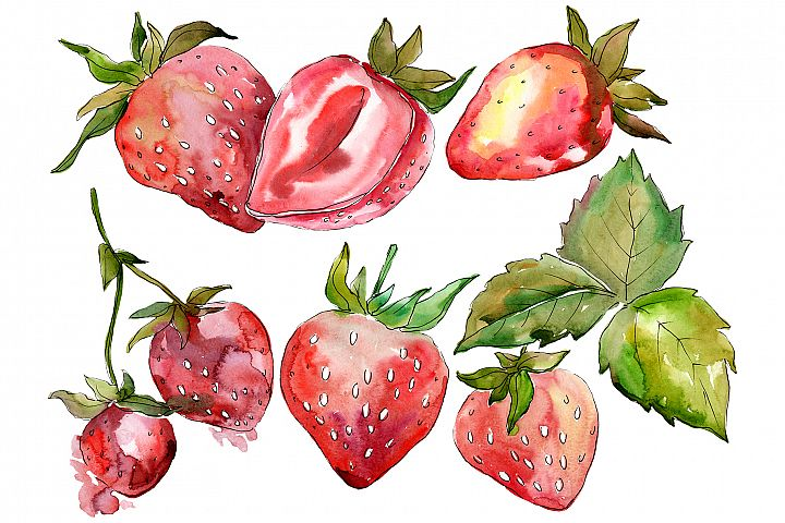 Strawberry Marmolada watercolor png