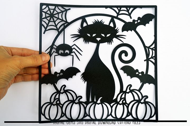 Halloween paper cut SVG  DXF  EPS files
