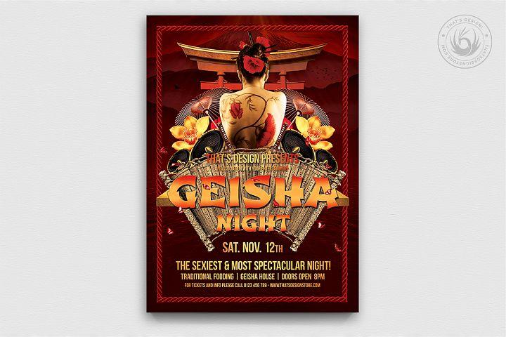 Geisha Night Flyer Template V1