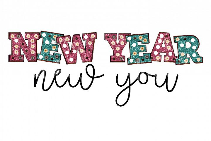 New Year Sublimation Design