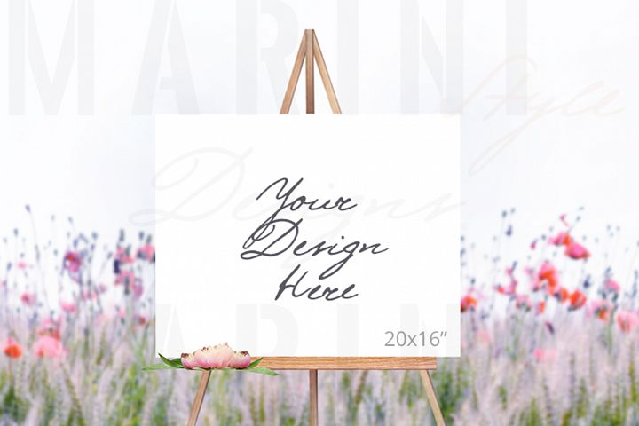 Easel Mockup, Wedding Sign Mockup, Welcome sign mockup, 992