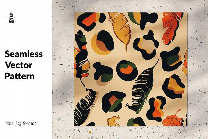 Abstract jungle seamless pattern