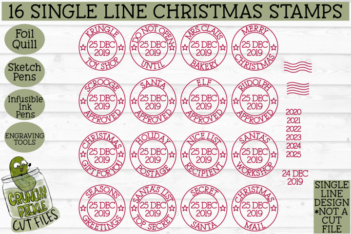 Foil Quill 16 Christmas Stamps