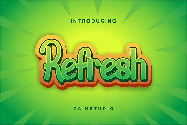 Refresh Display Font