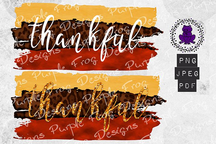 Thankful fall brush stroke with leopard print pdf