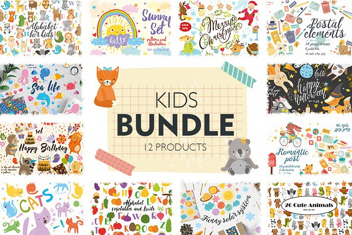 Kids bundle/ Cute baby animals
