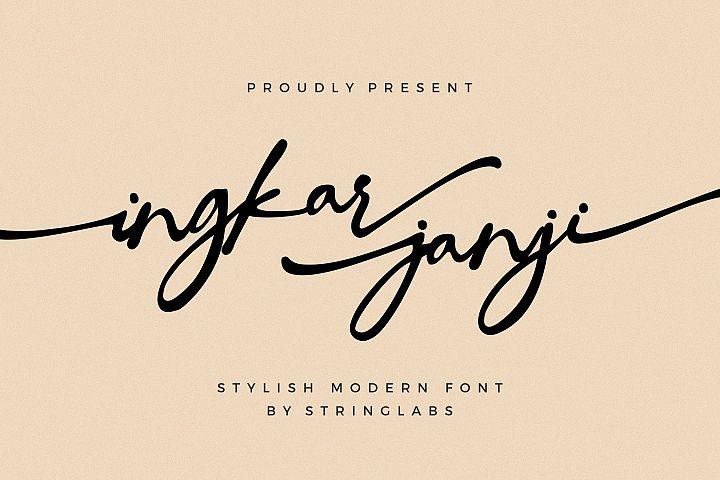 Ingkar Janji - Stylish Script Font