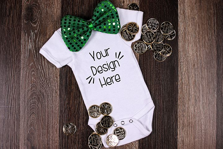 March Baby Suit Mockup 11| St Patricks Day Baby shirt Mockup