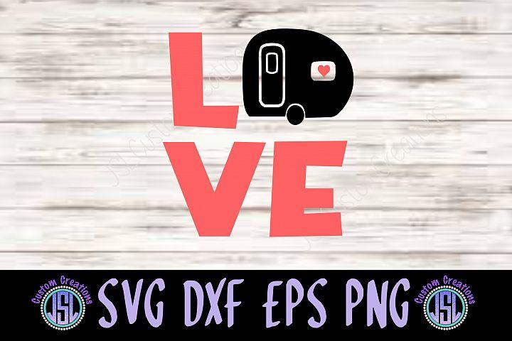 LOVE Camper Design  SVG EPS DXF PNG Digital Cut File