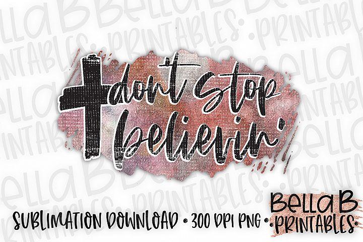 Christian Sublimation Design, Dont Stop Believin, Cross