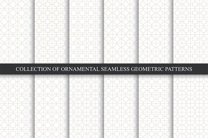 Eastern seamless ornamental patterns