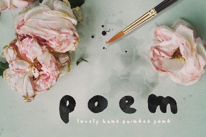 Poem Brush Font