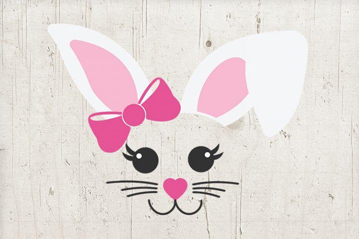 Girl Easter svg - Bunny Ears - Bunny Face svg - girl bunny