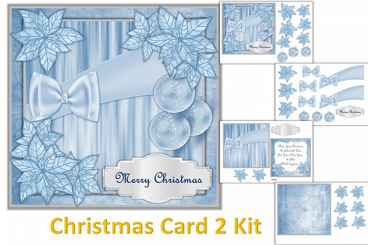 Christmas Card Making Kit with free clipart example 2