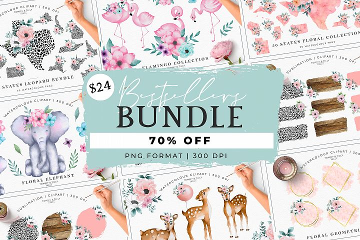 MEGA BUNDLE! Bestsellers - Clipart | Sublimation | PNG