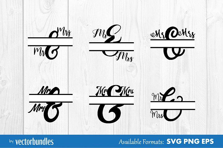Mr and Mrs monogram svg