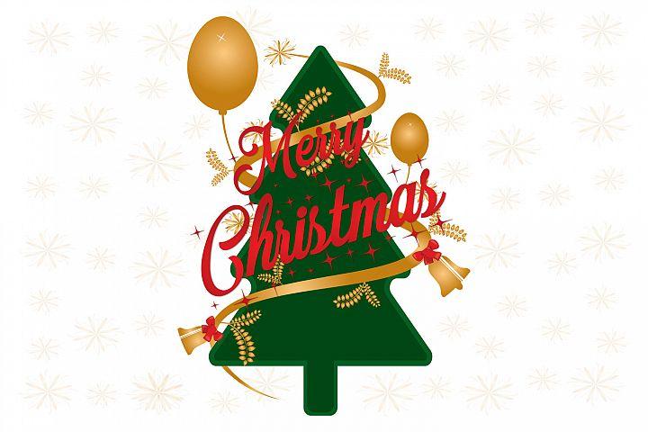 Christmas tree and saying Have a Merry Christmas.