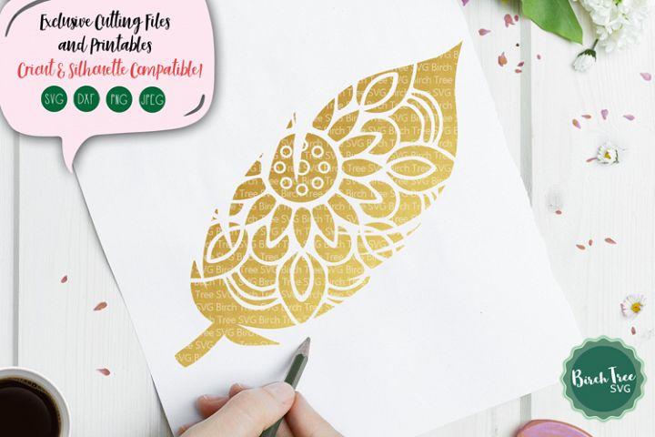 Feather Mandala SVG, Feather Svg, Boho Svg, Feather Cut File