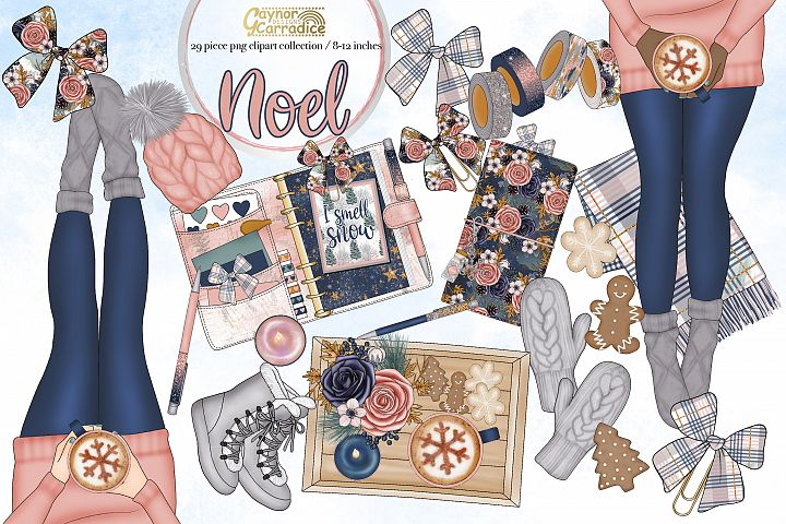 Noel- winter planner clipart collection