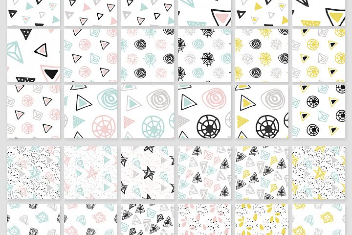 110 Hand-Drawn Geometric Patterns - Free Design of The Week Design 2