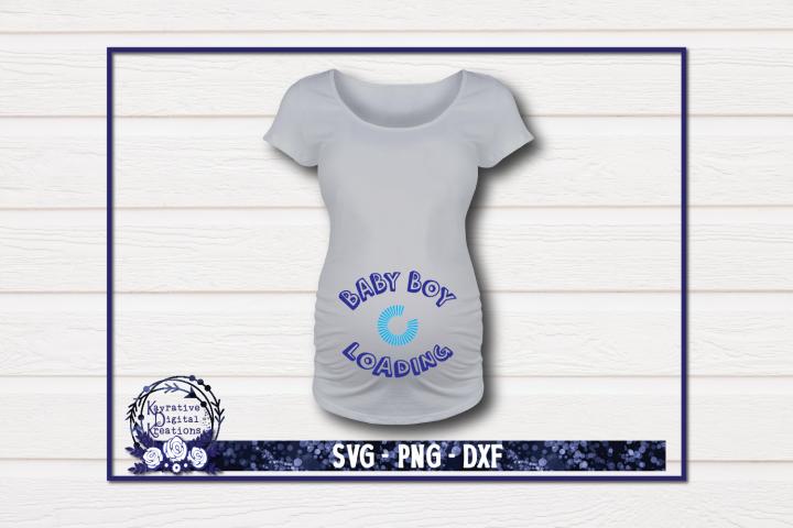 Pregnancy Shirt SVG - Baby Boy Loading