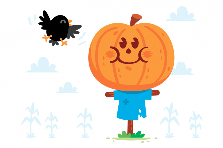 Scarecrow Pumpkin Clipart