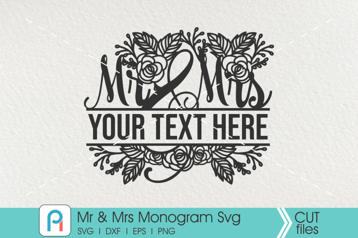 MR and MRS Monogram Svg, MR and MRS SVG, MR and MRS Clipart