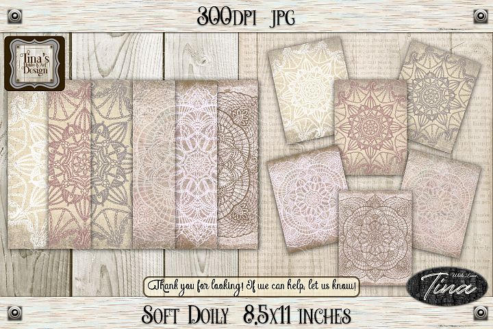 So Soft Doily Card Making Antique Dainty Feminine 111218SD