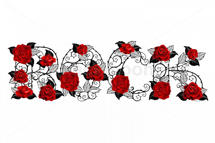 Rock of Red Roses