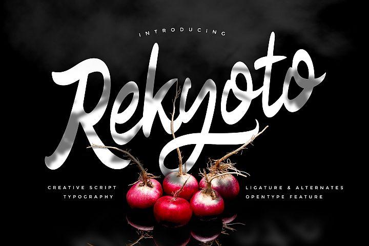 Rekyoto | Delicious Script Font