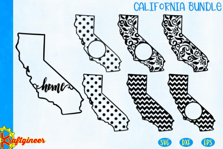 California Patterns Bundle SVG, Paradise Strong