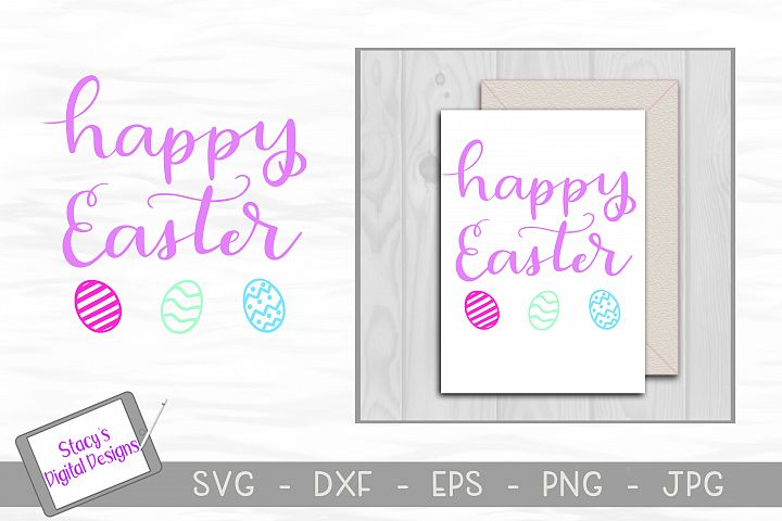 Happy Easter SVG - Handlettered cut file