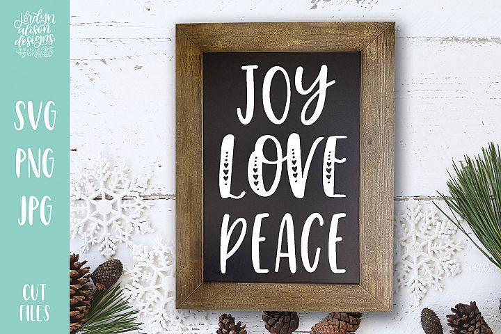 Joy Love Peace, Christmas Holiday SVG Cut File