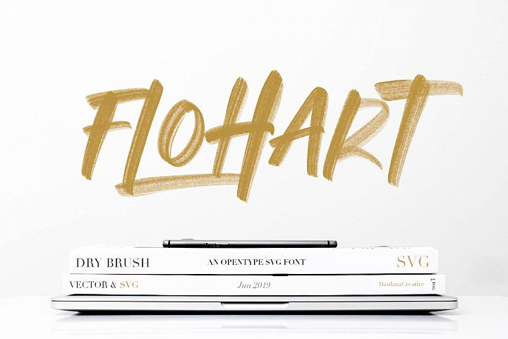 Flohart Svg Brush Font
