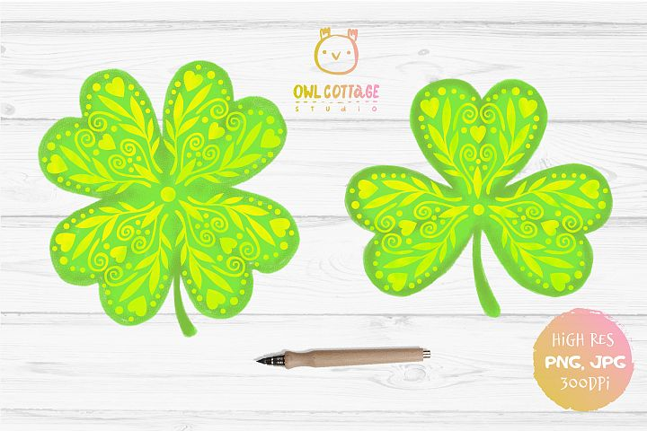 St. Patricks day sublimation, Clover Leaf, Sublimation Desig
