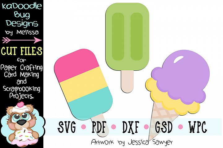 Icy Cold Treats Ice Cream Cut File - SVG PDF DXF GSD WPC