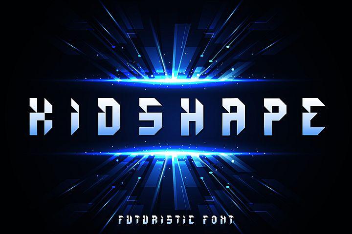 Kidshape | Futuristic Font