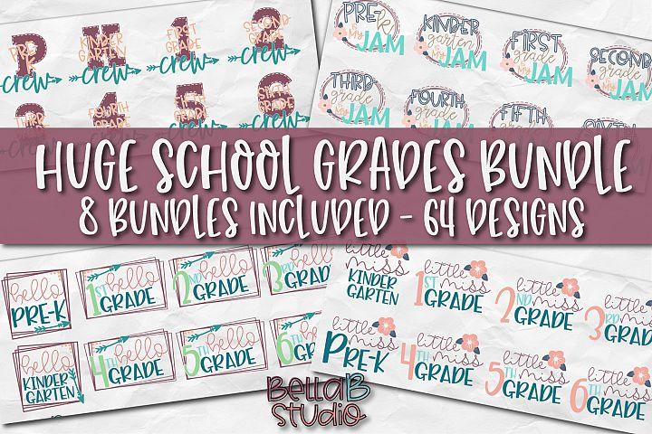 Huge School Grades SVG Bundle, Back To School SVG Bundle