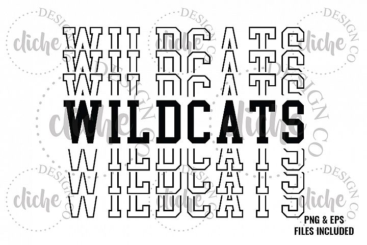 Wildcats Sublimation Design & Bonus Vector Files