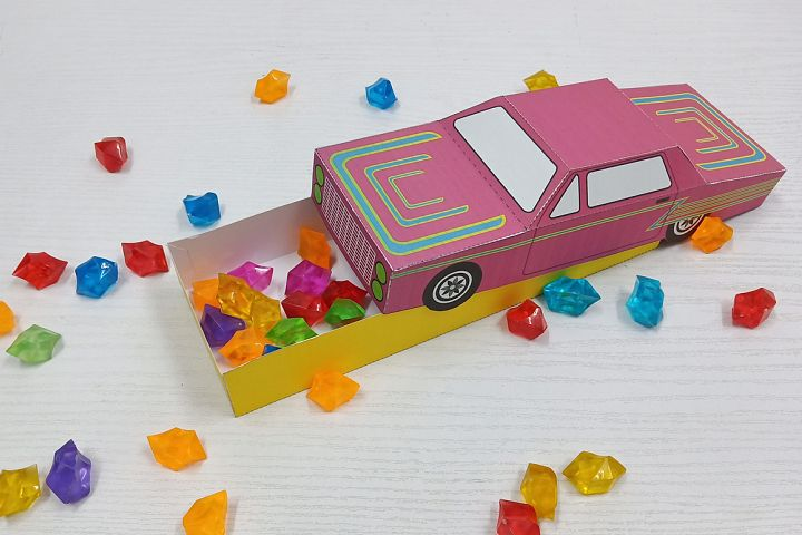 DIY printable Car favor,papercraft,Instant digital download
