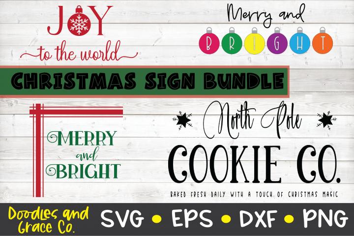 Christmas Sign Bundle - Christmas SVG Bundle