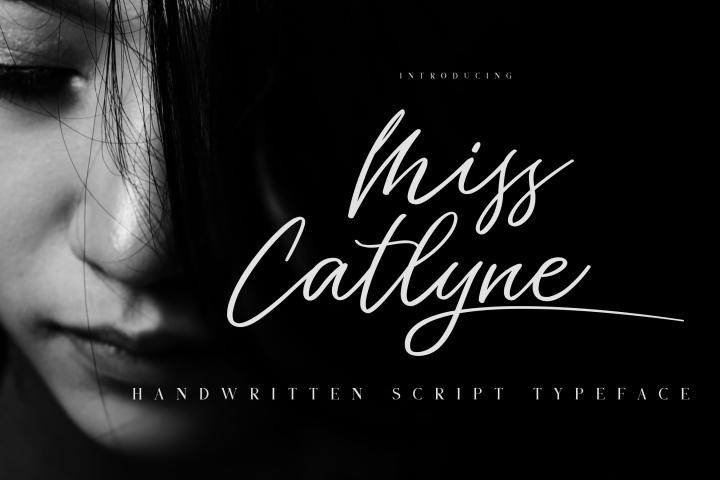 Miss Catlyne // Handwritten Script Typeface