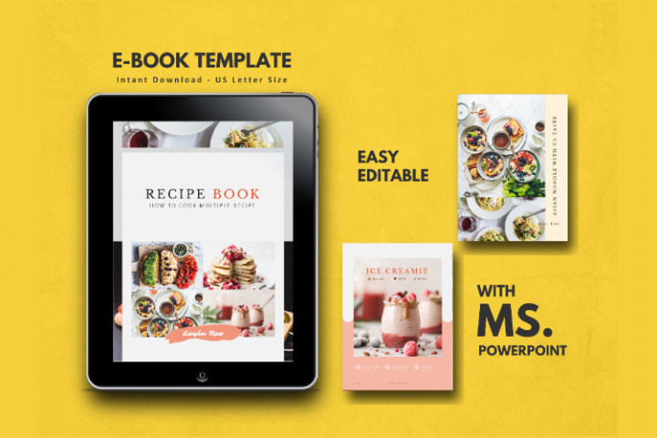 Recipe Book Template eBook PowerPoint Presentation