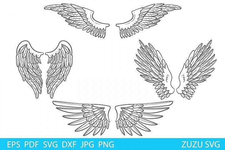 WINGS SVG, angel wings, wings cut file, wing svg, angel svg